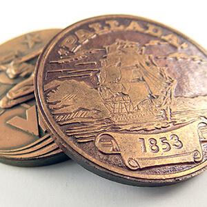 Памятная медаль штамповкой