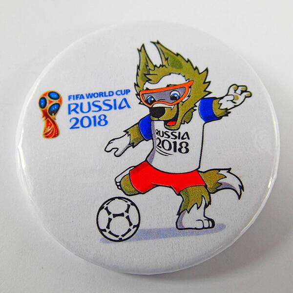 Закатной значок: FIFA Russia 2018